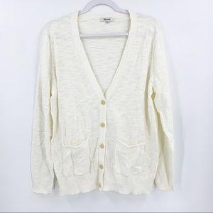 Madewell Cream Lightweight Button-Up Cardigan XL